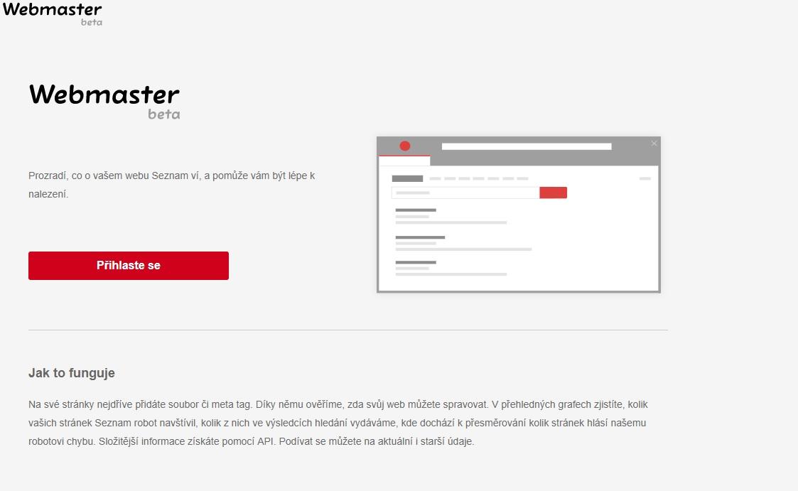 seznam webmaster